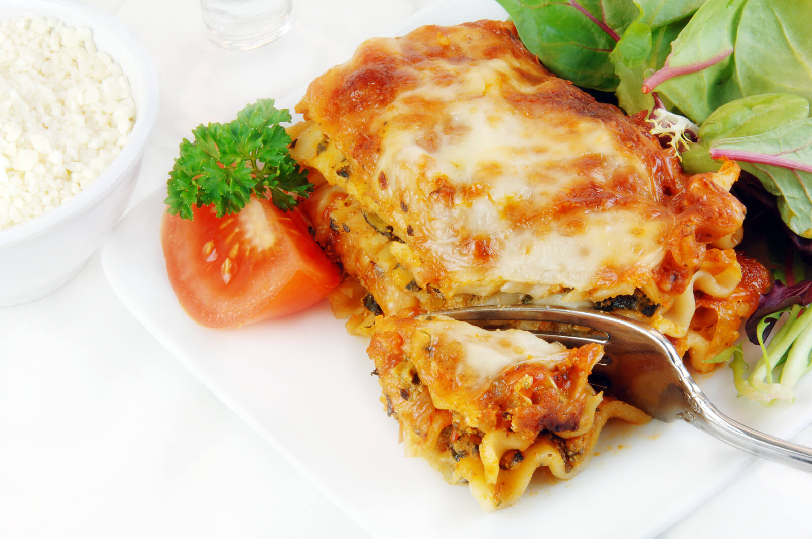 Lasagna With Salad