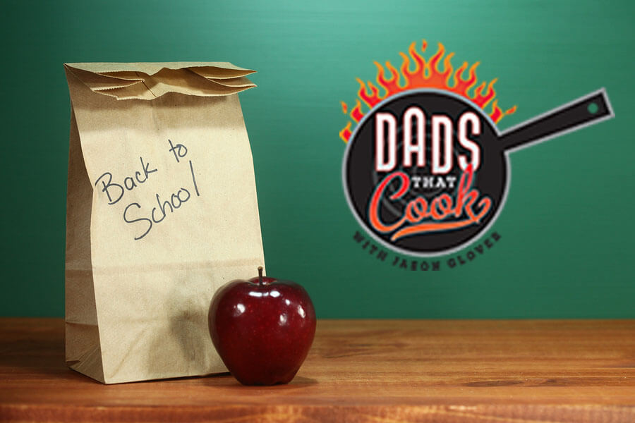 Back to School Lunch Sack Sitting on Teacher Desk