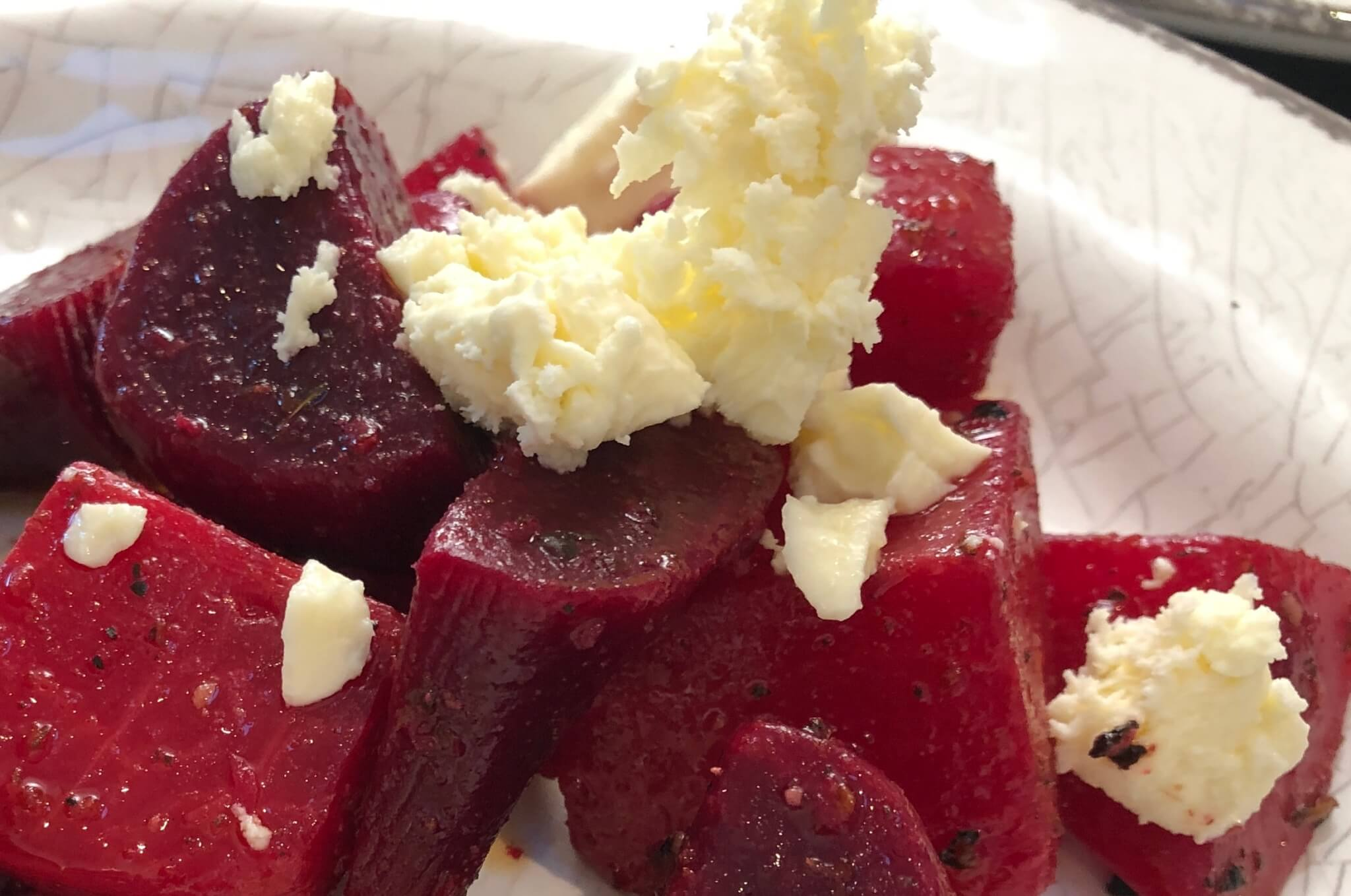 Easy Beets with Feta