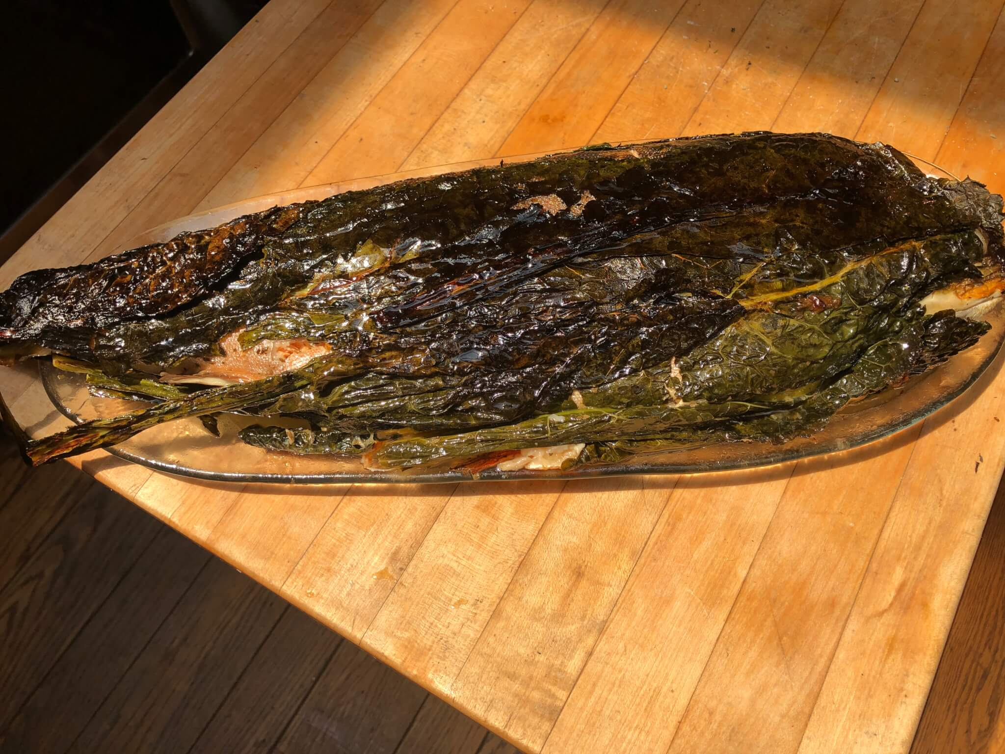 Kale Wrapped Arctic Char