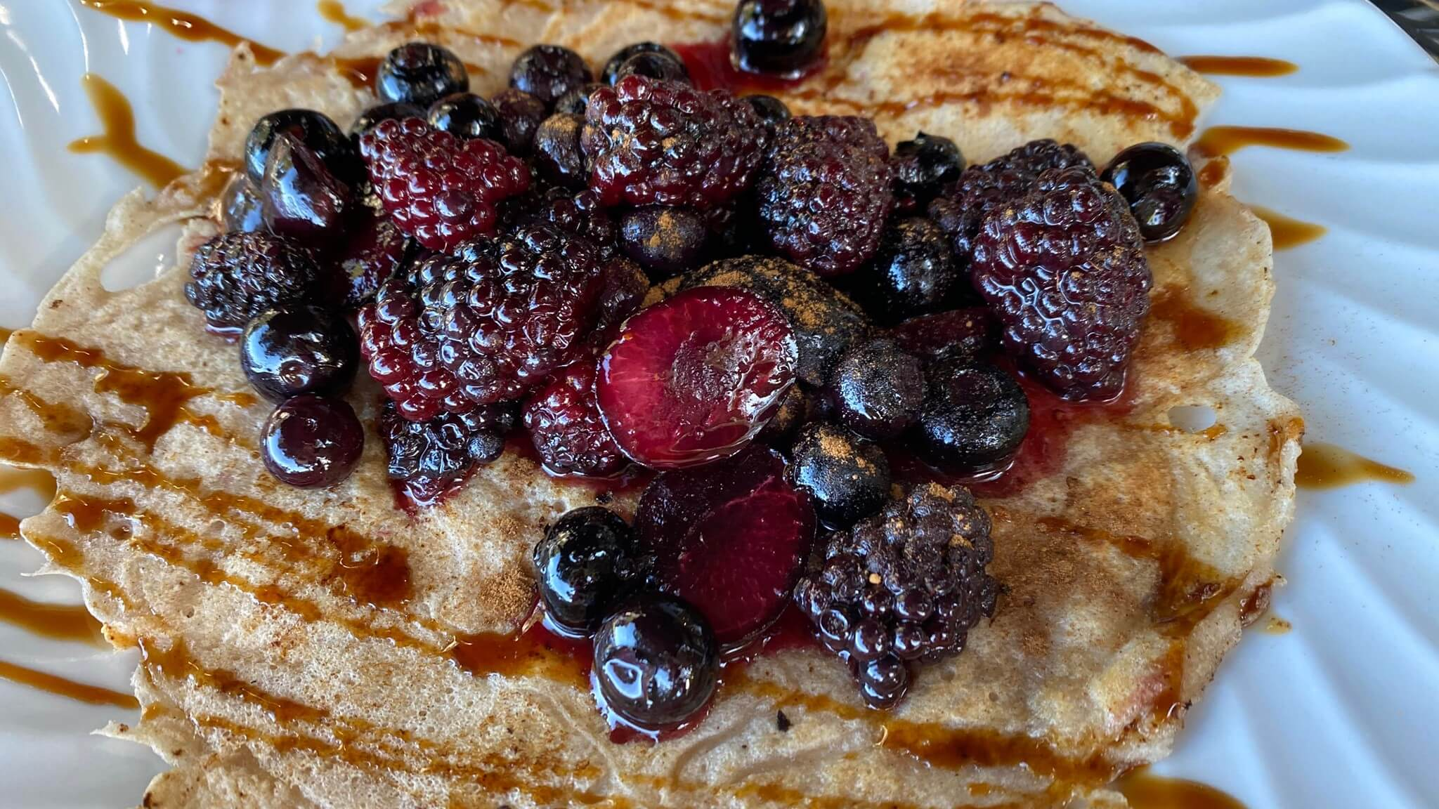 Crepes with Fresh Berry Compote