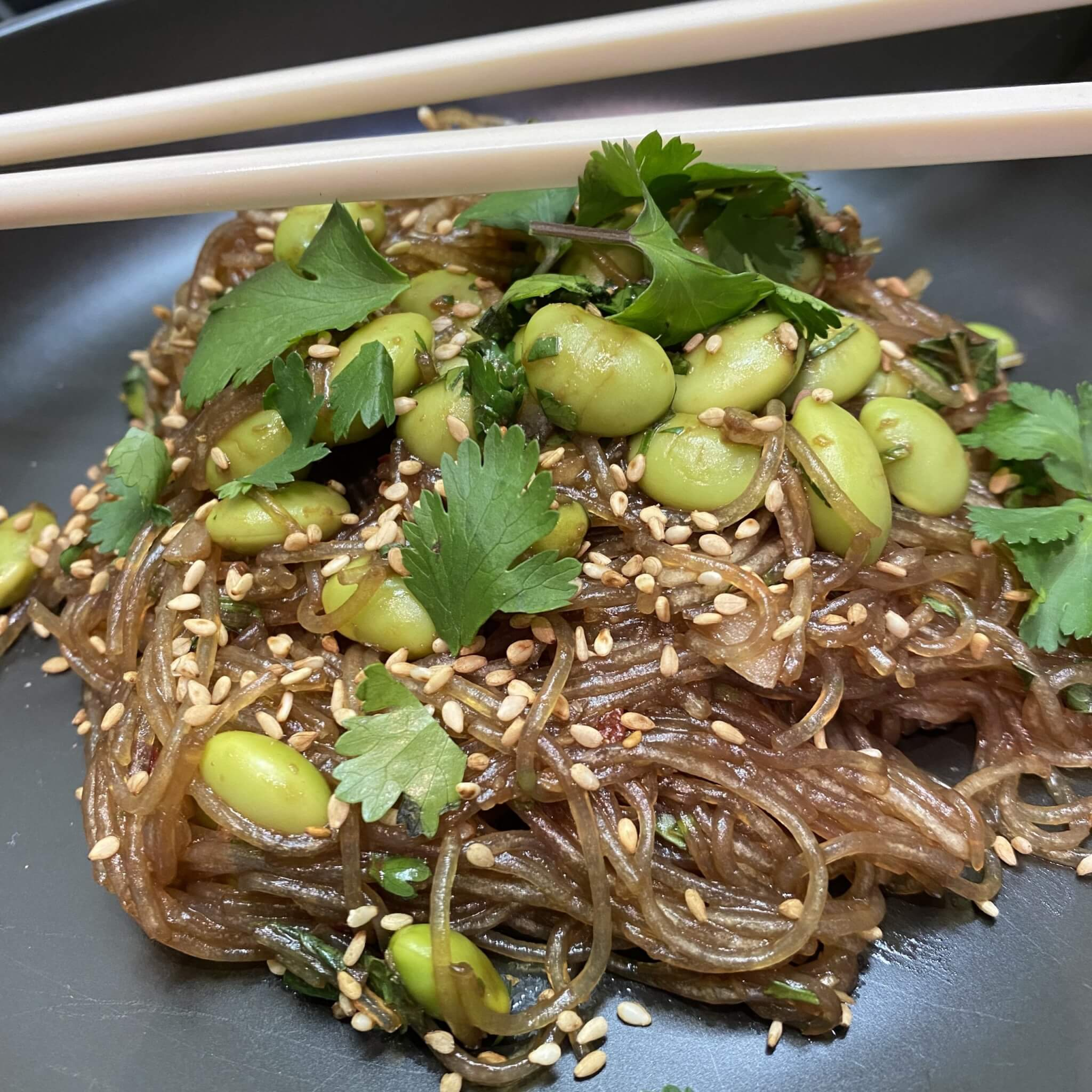 Glass Noodles with Edamame
